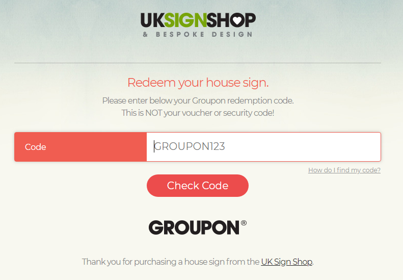 uk sign shop from 6 99 groupon